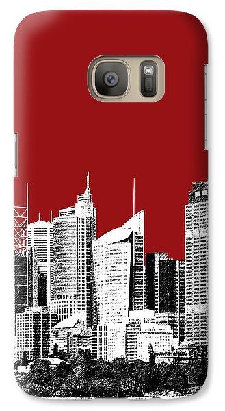 Sydney Skyline 1 - Dark Red Galaxy S7 Case by DB Artist