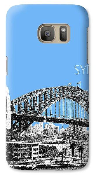 Sydney Skyline 2 Harbor Bridge - Light Blue Galaxy S7 Case by DB Artist