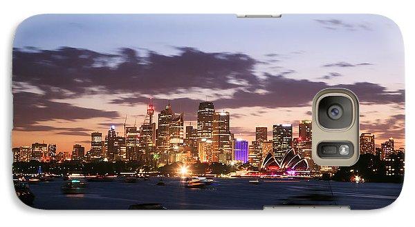 Sydney Skyline At Dusk Australia Galaxy S7 Case by Matteo Colombo