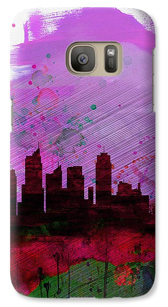 Sydney Watercolor Skyline 2 Galaxy S7 Case by Naxart Studio
