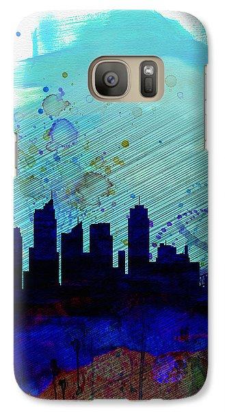 Sydney Watercolor Skyline Galaxy S7 Case by Naxart Studio