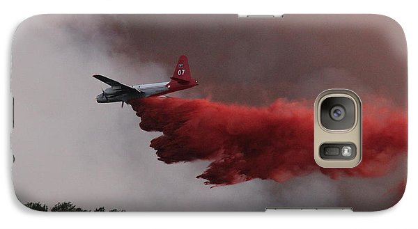 Galaxy Case featuring the photograph Tanker 07 Drops On The Myrtle Fire by Bill Gabbert