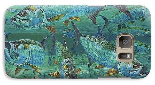 Tarpon Rolling In0025 Galaxy S7 Case by Carey Chen