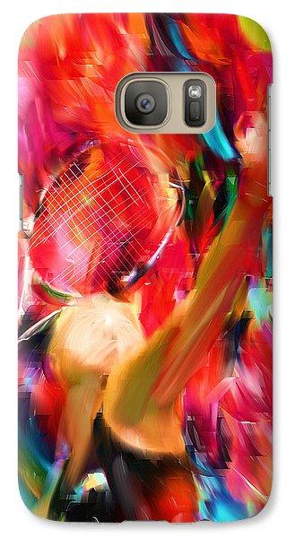 Tennis I Galaxy Case by Lourry Legarde
