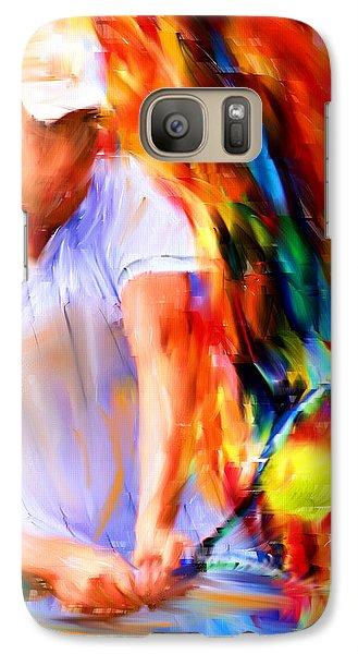 Tennis II Galaxy Case by Lourry Legarde