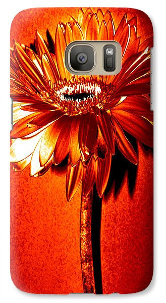 Tequila Sunrise Zinnia Galaxy S7 Case by Sherry Allen