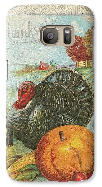 Thanksgiving Postcards I Galaxy S7 Case by Wild Apple Portfolio