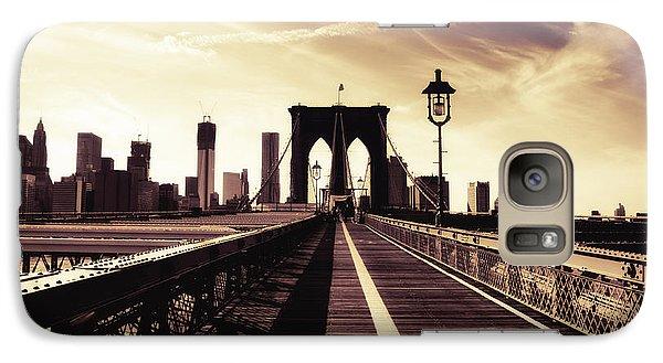 The Brooklyn Bridge - New York City Galaxy Case by Vivienne Gucwa