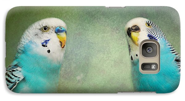 The Budgie Collection - Budgie Pair Galaxy S7 Case by Jai Johnson