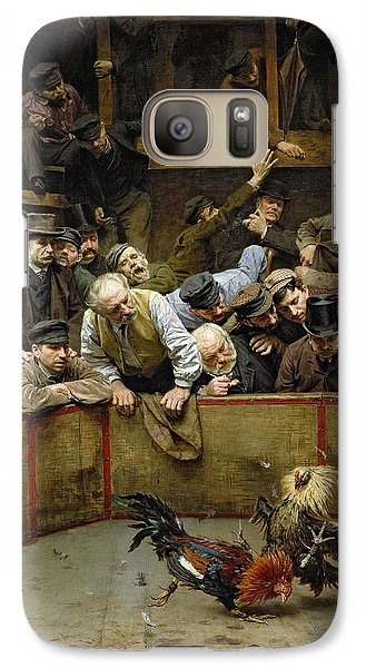 The Cockfight Galaxy S7 Case by Remy Cogghe