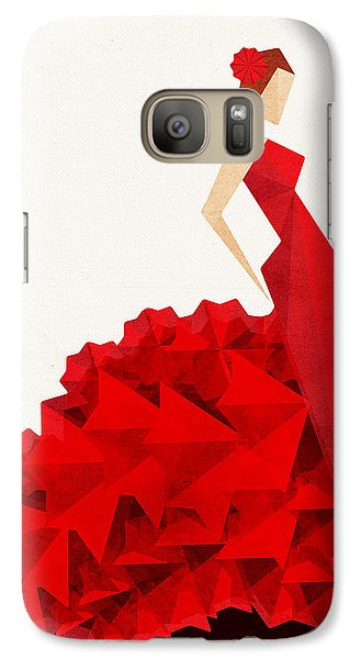 The Dancer Flamenco Galaxy S7 Case by VessDSign