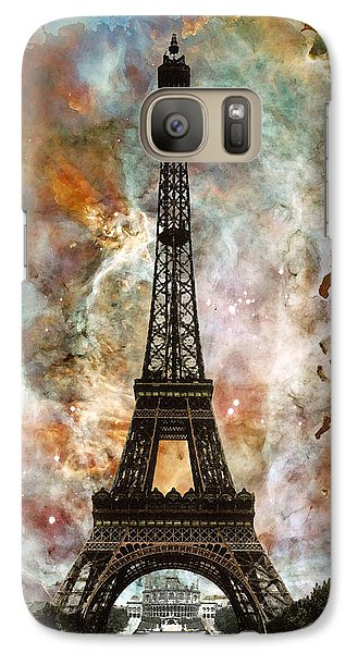 The Eiffel Tower - Paris France Art By Sharon Cummings Galaxy S7 Case by Sharon Cummings