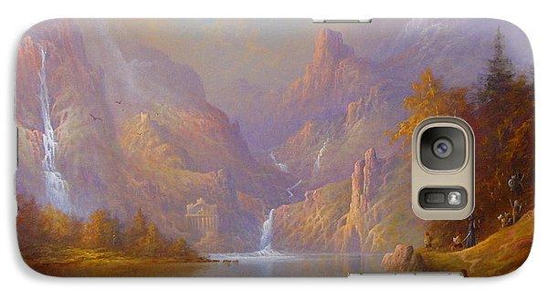 The Fellowship Doors Of Durin Moria.  Galaxy Case by Joe  Gilronan