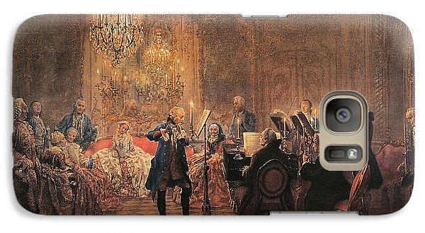 The Flute Concert Galaxy Case by Adolph Friedrich Erdmann von Menzel