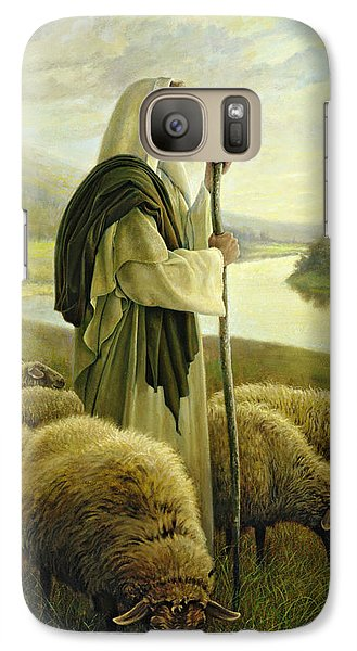 The Good Shepherd Galaxy Case by Greg Olsen