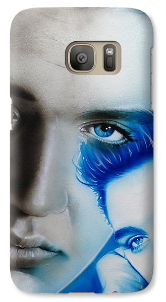 Elvis Presley - ' The King ' Galaxy S7 Case by Christian Chapman Art