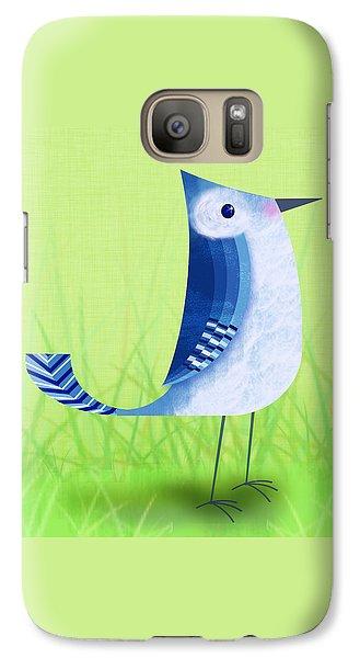 The Letter Blue J Galaxy S7 Case by Valerie Drake Lesiak