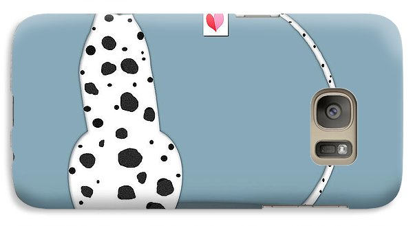 The Letter D For Dalmatian Galaxy S7 Case by Valerie Drake Lesiak