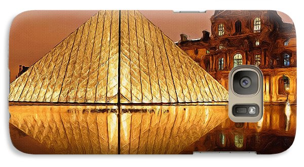 The Louvre By Night Galaxy Case by Ayse Deniz