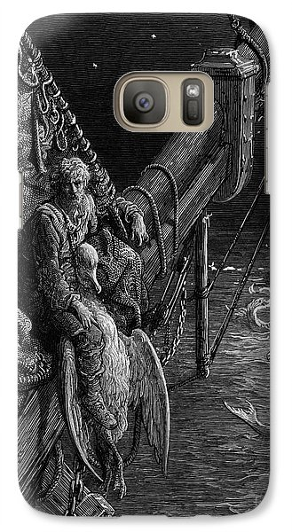 The Mariner Gazes On The Serpents In The Ocean Galaxy S7 Case by Gustave Dore