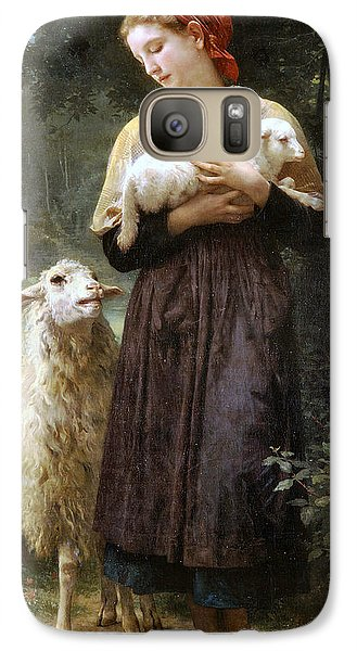 The Newborn Lamb Galaxy Case by William Bouguereau