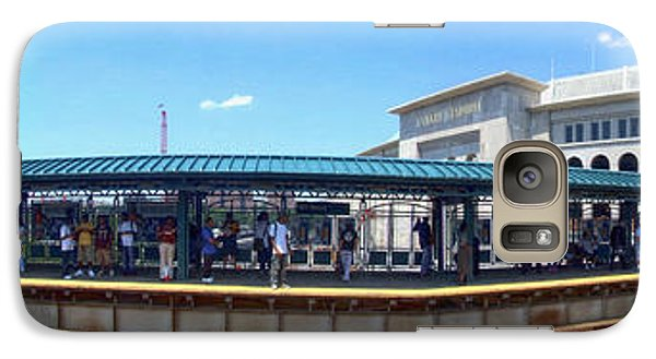 The Old And New Yankee Stadiums Panorama Galaxy Case by Nishanth Gopinathan