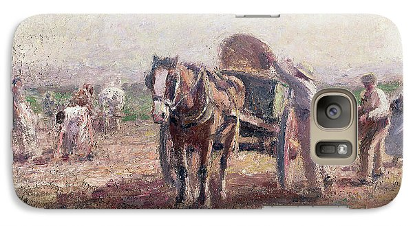 The Potato Pickers Galaxy S7 Case by Harry Fidler