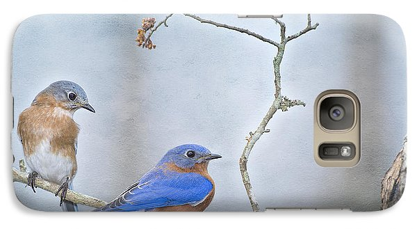 The Presence Of Bluebirds Galaxy Case by Bonnie Barry