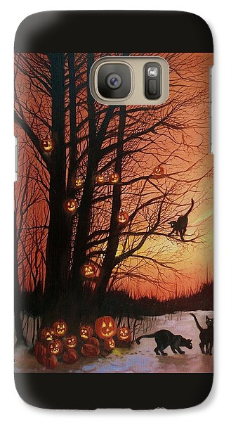 The Pumpkin Tree Galaxy Case by Tom Shropshire
