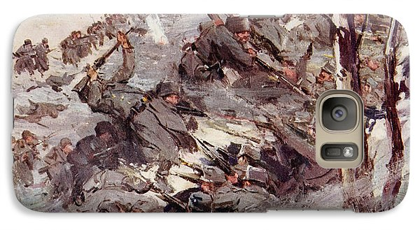 The Russians Fighting Their Way Over The Carpathians Galaxy Case by Cyrus Cuneo