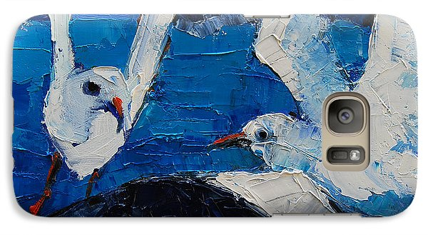 The Seagulls Galaxy Case by Mona Edulesco