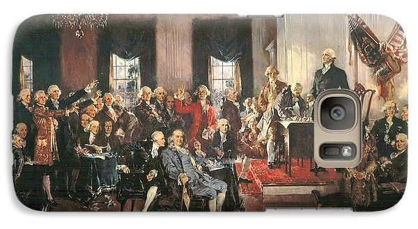 The Signing Of The Constitution Of The United States In 1787 Galaxy Case by Howard Chandler Christy