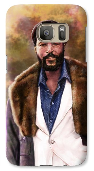 The Silky Silky Soul Singer - Marvin Gaye  Galaxy S7 Case by Reggie Duffie