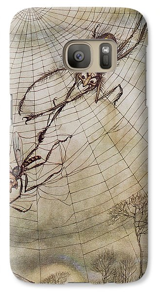The Spider And The Fly Galaxy S7 Case by Arthur Rackham