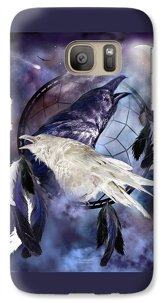 The White Raven Galaxy S7 Case by Carol Cavalaris