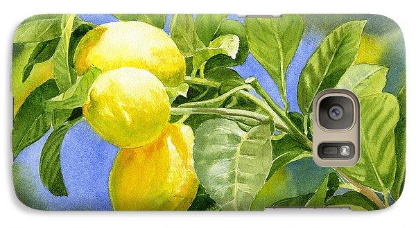 Three Lemons Galaxy Case by Sharon Freeman