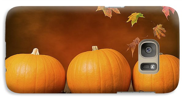 Three Pumpkins Galaxy Case by Amanda Elwell