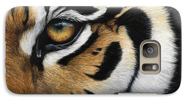 Tiger Eye Galaxy Case by Lucie Bilodeau