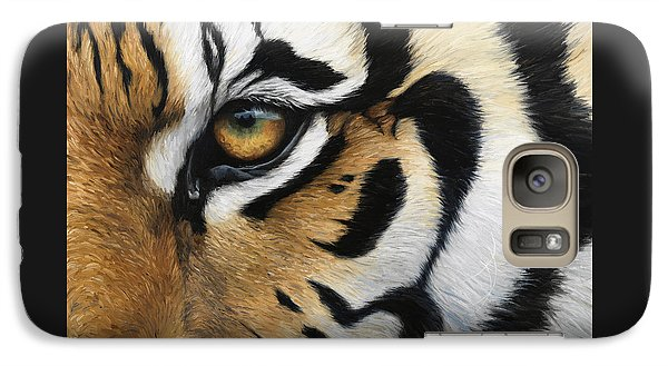 Tiger Eye Galaxy S7 Case by Lucie Bilodeau