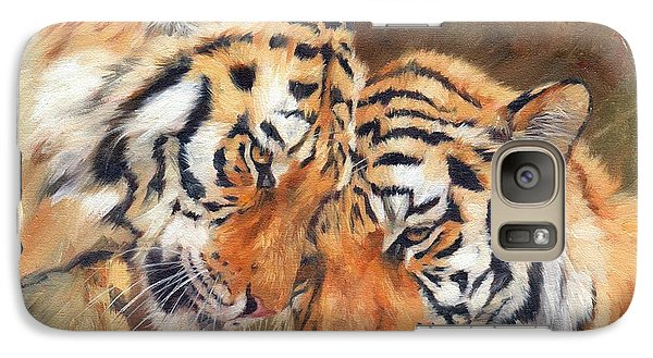 Tiger Love Galaxy S7 Case by David Stribbling