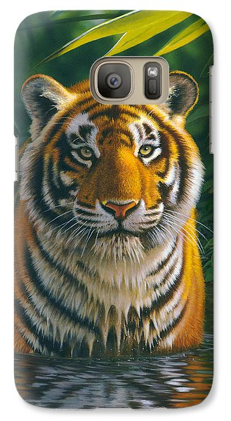 Tiger Pool Galaxy S7 Case by MGL Studio - Chris Hiett