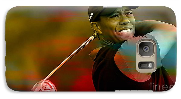 Tiger Woods Galaxy Case by Marvin Blaine