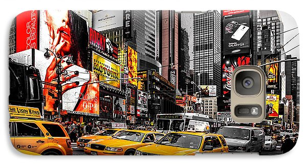 Times Square Taxis Galaxy Case by Az Jackson