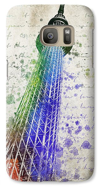 Tokyo Skytree Galaxy S7 Case by Aged Pixel