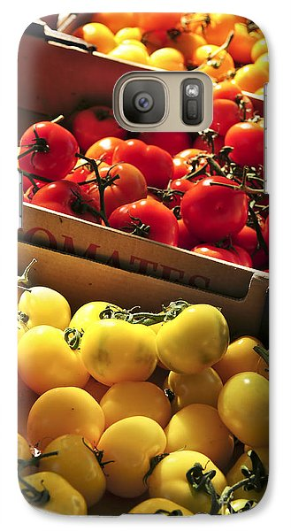 Tomatoes On The Market Galaxy S7 Case by Elena Elisseeva