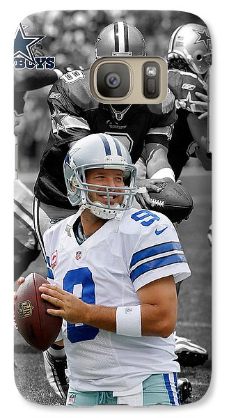 Tony Romo Cowboys Galaxy S7 Case by Joe Hamilton