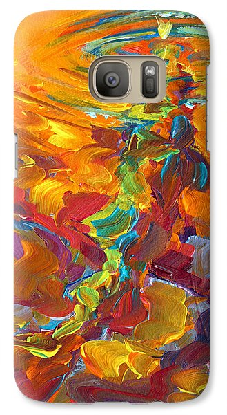 Topwater Trout Abstract Tour Study Galaxy S7 Case by Savlen Art