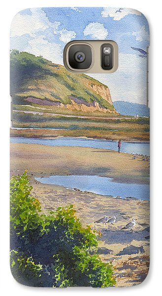 Torrey Pines Inlet Galaxy Case by Mary Helmreich