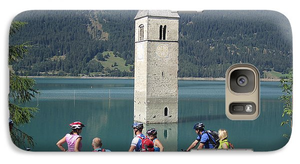 Galaxy Case featuring the photograph Tower In The Lake by Travel Pics