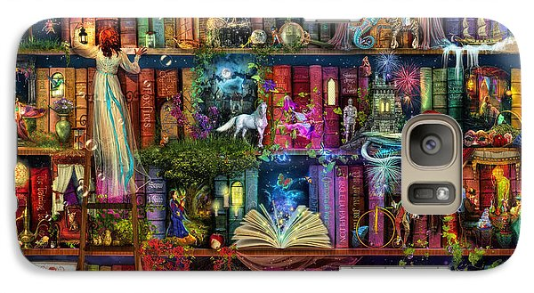 Fairytale Treasure Hunt Book Shelf Galaxy Case by Aimee Stewart